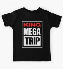 King Megatrip VSW logo (dark shirt version) Kids Tee