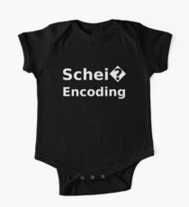 Schei� Encoding - Programmer Humor Printed in a White Font One Piece - Short Sleeve