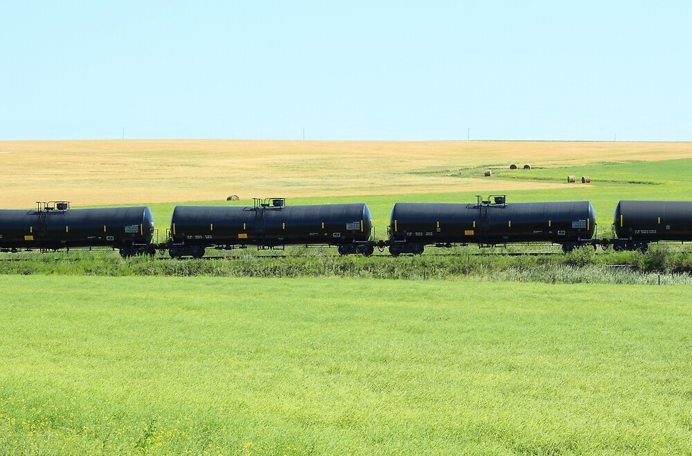 Rail Car on the Prairies by rhamm