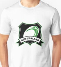 Rugby Ball New Zealand shield T-Shirt
