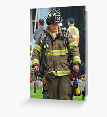 Fireman Greeting Card