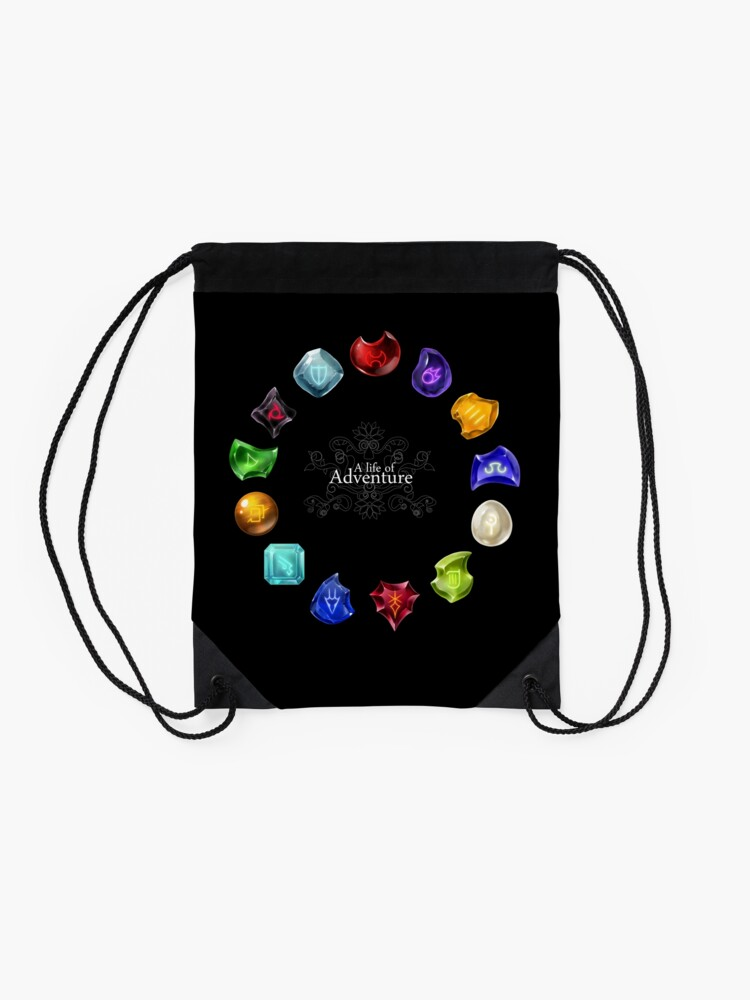 Alternate view of A Life of Adventure Drawstring Bag