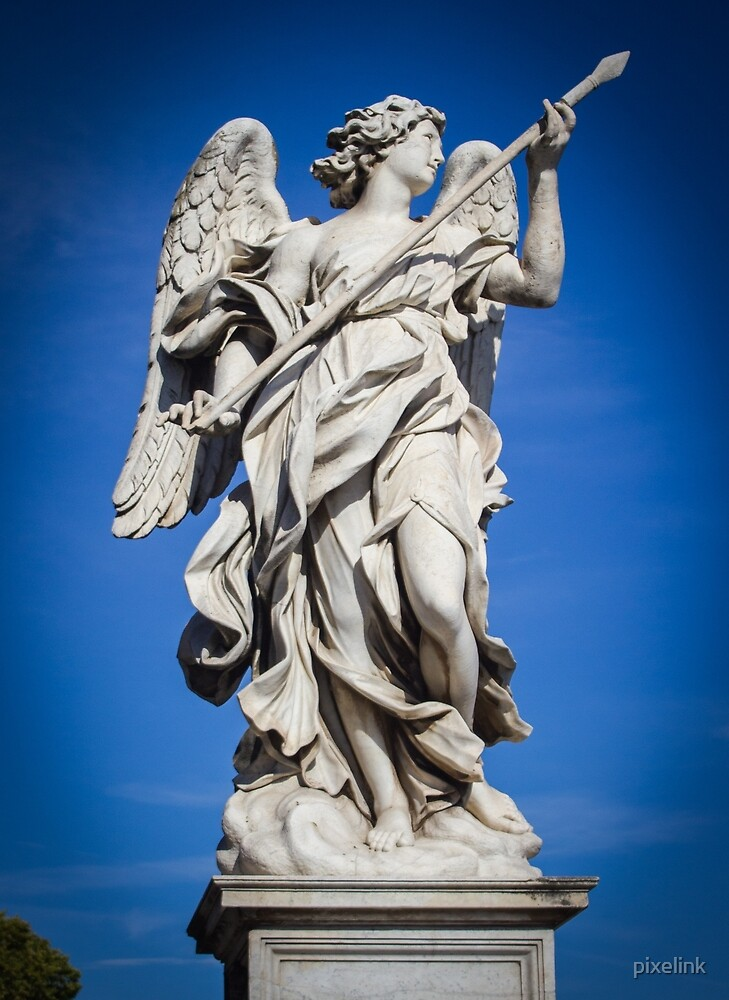 Angel Statue of Ponte Sant' Angelo, Rome by pixelink