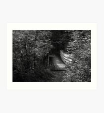 Bridge in Summer BW Art Print