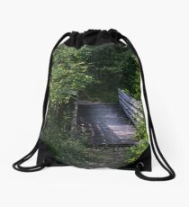 Bridge in Summer Drawstring Bag