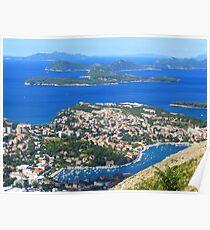 Dubrovnik Islands Poster