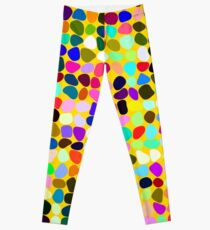 Products decorated with random colored shapes Leggings