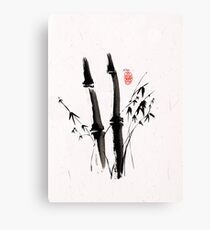 Sumi-e Bamboo Canvas Print
