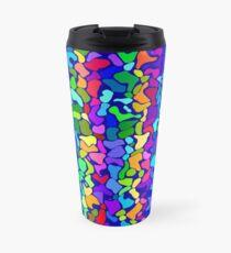 Random colored shapes Travel Mug