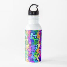 Random colored shapes Water Bottle