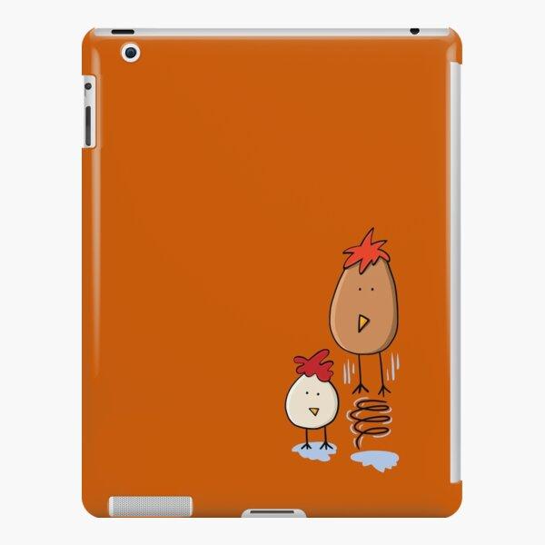 Spring Chicken Eggs Illustration On Burnt Orange iPad Snap Case