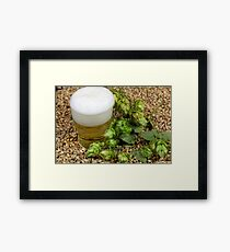 Beer, hops and malt Framed Print