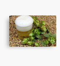 Beer, hops and malt Canvas Print