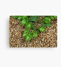 Hops and Malt Canvas Print