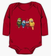 Cute overload - Birds One Piece - Long Sleeve