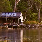 Old Boat Shed by National Park Photography