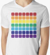 Rainbow Square - Light Background Mens V-Neck T-Shirt