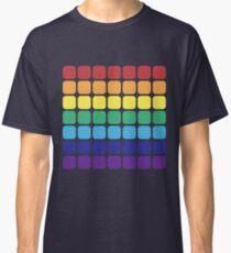 Rainbow Square - Dark Background Classic T-Shirt