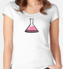 Science Beaker Pink Women's Fitted Scoop T-Shirt