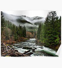 Winters Joy ~ Quartzville Creek Winter ~ Poster