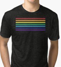 Rainbow Lines Tri-blend T-Shirt