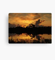 Summer Sunrise in Hungry Land Canvas Print