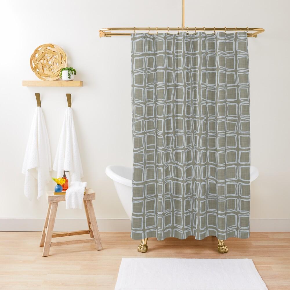 irregular rhombuses Shower Curtain