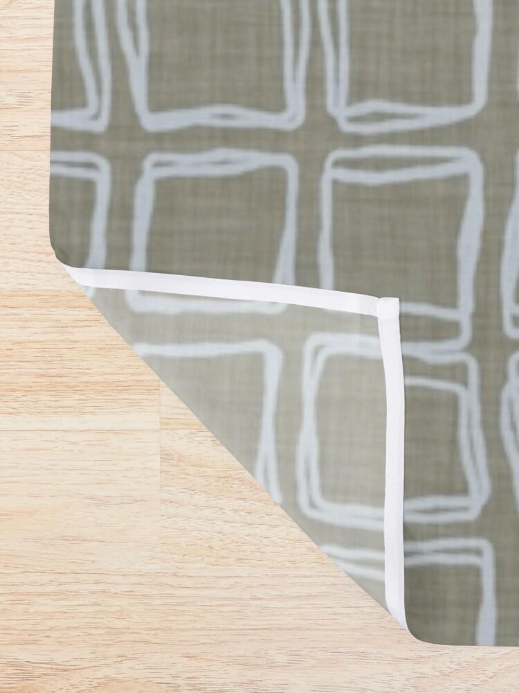 Alternate view of irregular rhombuses Shower Curtain