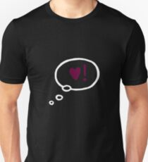 Heart thought bubble. Unisex T-Shirt