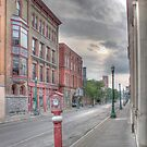 Looking Down Central Avenue - Cortland, NY by Edith Reynolds
