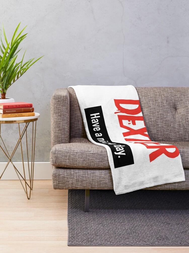 Alternate view of Dexter Fanart Throw Blanket