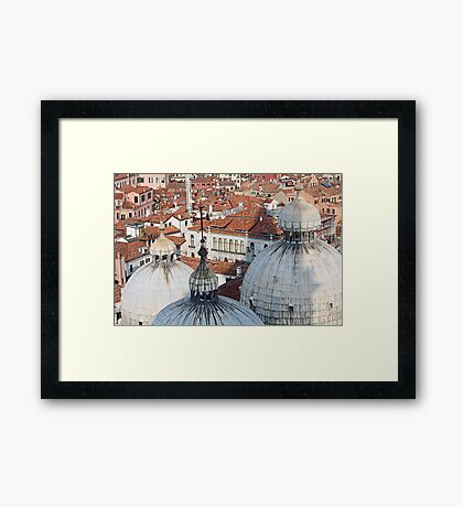 The Rooftops of Venice Framed Print