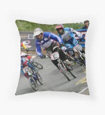 BMX Racing Throw Pillow