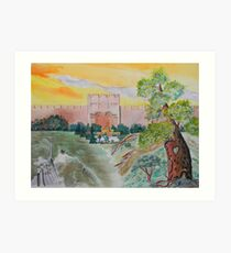 My Pilgrimage to the Holy Land Art Print