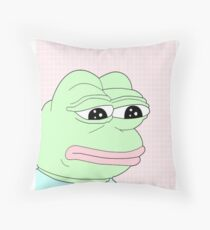 aesthetic pepe Throw Pillow