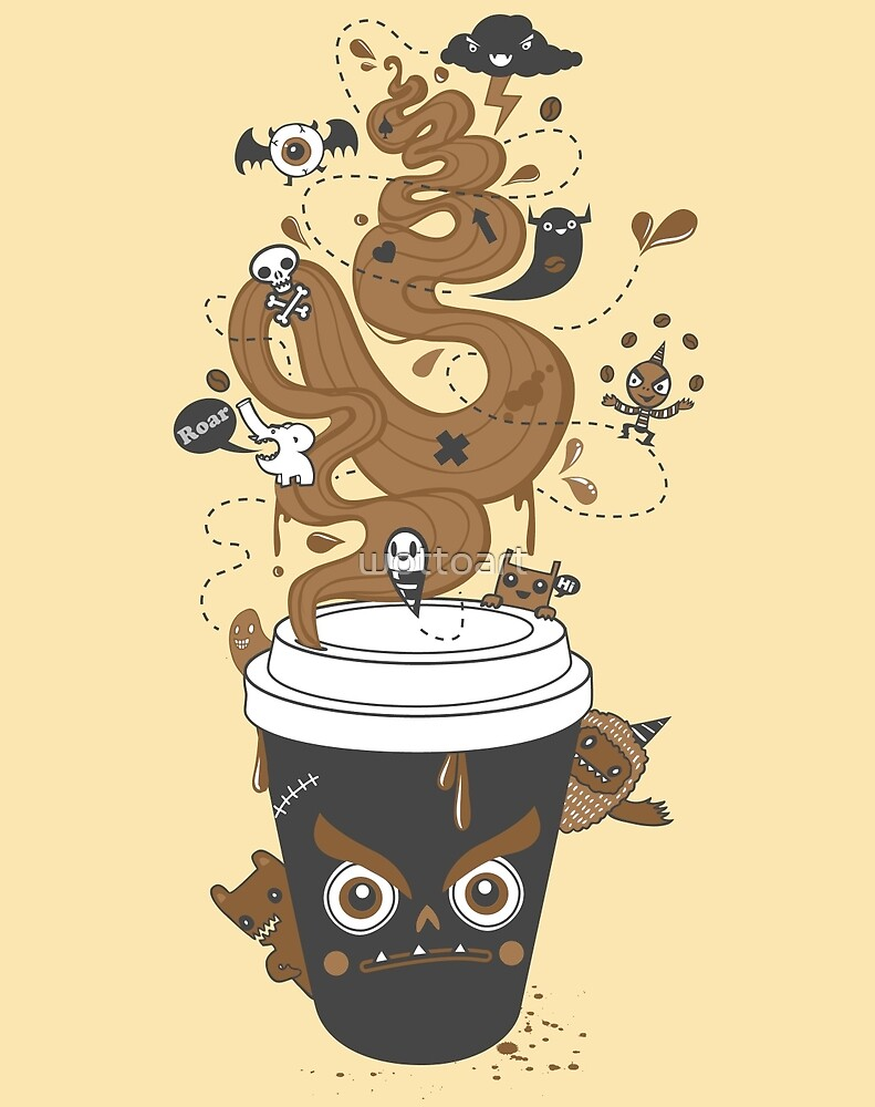 Awaken Coffee by wottoart