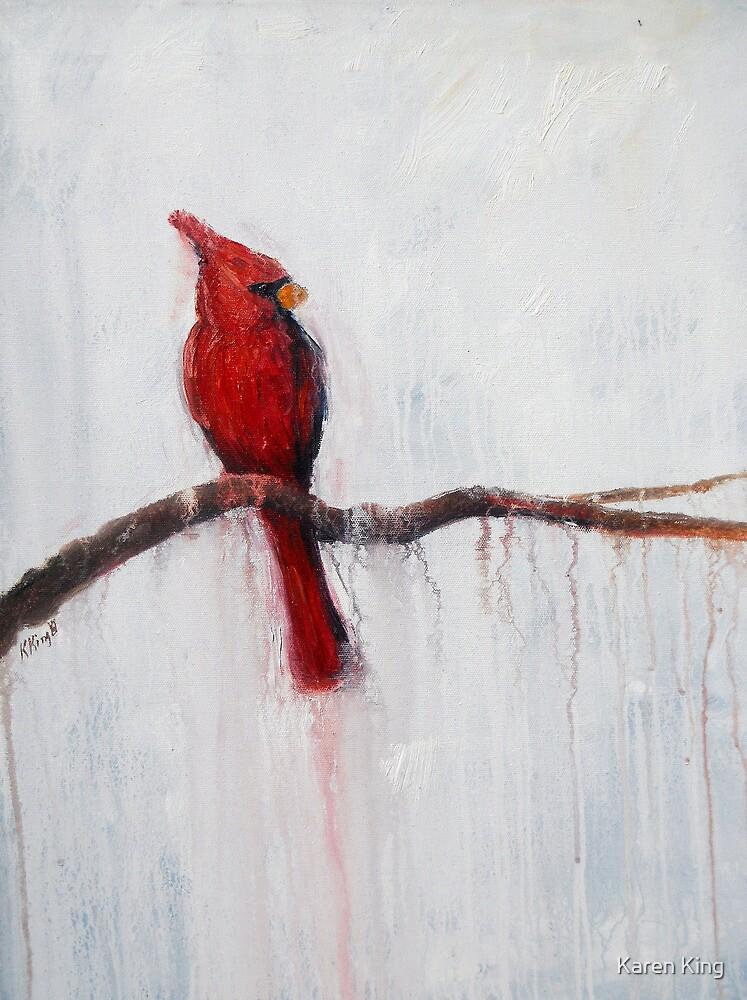 Winter Cardinal by Karen King