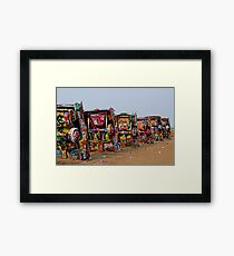 The Underside Cadillac Ranch Cars Framed Print