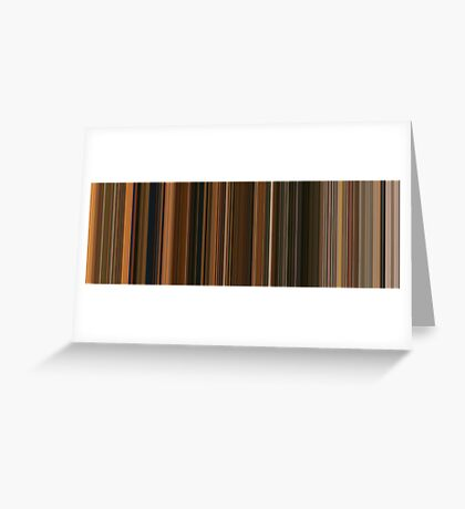 Moviebarcode: Fantastic Mr. Fox (2009) [Simplified Colors] Greeting Card