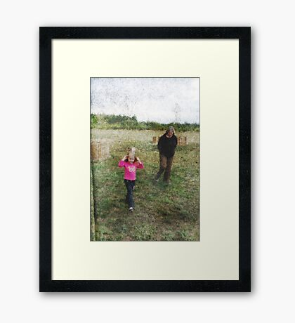 Auntie And The Butterfly Girl Framed Print