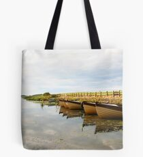 Boats on New Lake Dunfanaghy Donegal Ireland Tote Bag