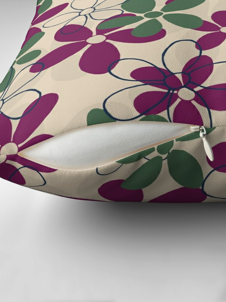 Alternate view of Floret Collection Floral Seamless Surface Pattern Floor Pillow