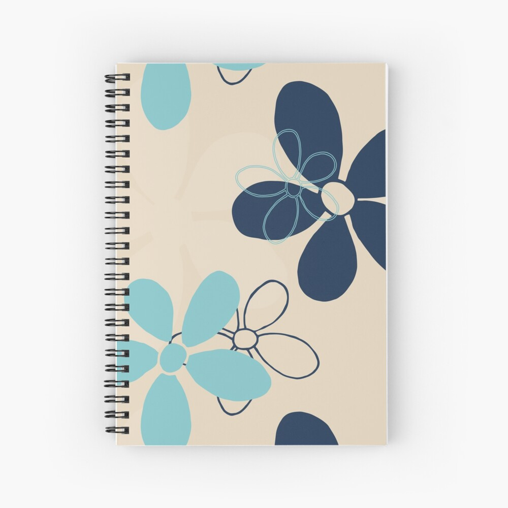Floret Collection Floral Seamless Surface Pattern Spiral Notebook