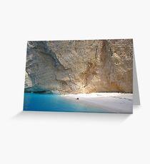 Navagio Beach and Limestone Cliffs Greeting Card