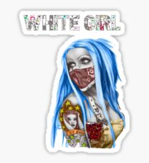 White Girl Sticker
