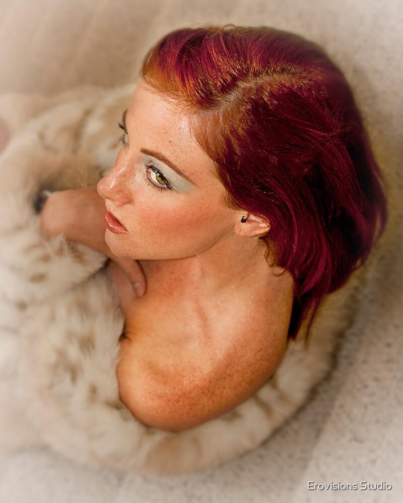 Hollis on Stair in Fur by Erovisions Studio