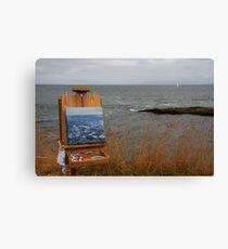 en plein air in gray Canvas Print