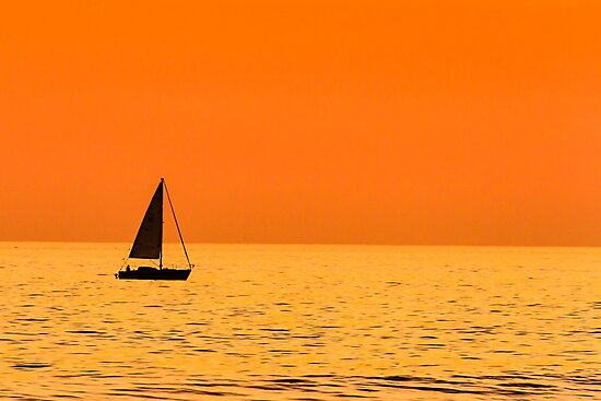Sailing at Sunset by bengraham