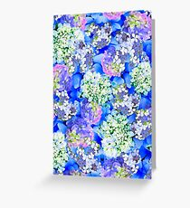 Billowing Blush in Blues Greeting Card