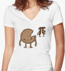 The Inferior Pi Women's Fitted V-Neck T-Shirt